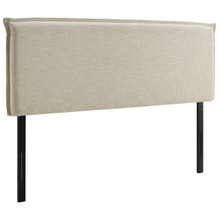 Camille Full Upholstered Fabric Headboard, Full Size, Fabric, Beige, 14361