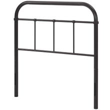 Serena Twin Steel Headboard, Twin Size, Metal Steel, Brown, 14389