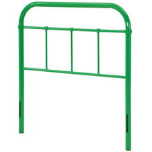 Serena Twin Steel Headboard, Twin Size, Metal Steel, Green, 14390