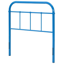 Serena Twin Steel Headboard, Twin Size, Metal Steel, Light Blue, 14392