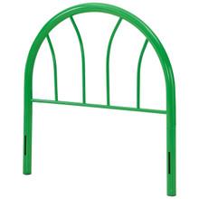 Damaris Twin Steel Headboard, Twin Size, Metal Steel, Green, 14406