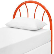 Damaris Twin Steel Headboard, Twin Size, Metal Steel, Orange, 14409