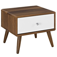 Transmit Nightstand, Wood, Natural Brown White 14444