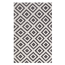 Alika Abstract Diamond Trellis 5x8 Area Rug, Fabric, Multi Grey Gray 14746