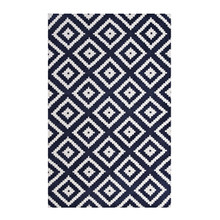 Alika Abstract Diamond Trellis 5x8 Area Rug, Fabric, Multi Navy Blue 14748