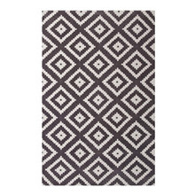 Alika Abstract Diamond Trellis 5x8 Area Rug, Fabric, Multi Grey Gray 14750