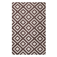 Alika Abstract Diamond Trellis 8x10 Area Rug, Fabric, Multi Brown 14753