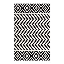 Ailani Geometric Chevron / Diamond 5x8 Area Rug, Fabric, Multi White 14758
