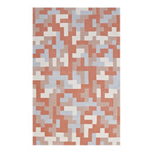 Andela Interlocking Block Mosaic 5x8 Area Rug, Fabric, Multi Orange 14784