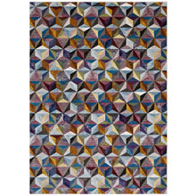 Arisa Geometric Hexagon Mosaic 5x8 Area Rug, Fabric, Multi Colorful 14822