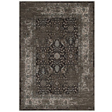 Berit Distressed Vintage Floral Lattice 5x8 Area Rug, Fabric,  Multi Brown 14847