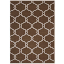 Beltara Chain Link Transitional Trellis 5x8 Area Rug, Fabric, Multi Brown 14893