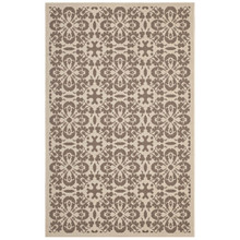 Ariana Vintage Floral Trellis 8x10 Indoor and Outdoor Area Rug, Fabric, Multi Beige 14952