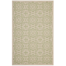 Ariana Vintage Floral Trellis 5x8 Indoor and Outdoor Area Rug, Fabric, Multi Green 14953
