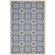 Ariana Vintage Floral Trellis 8x10 Indoor and Outdoor Area Rug, Fabric, Multi Blue 14956