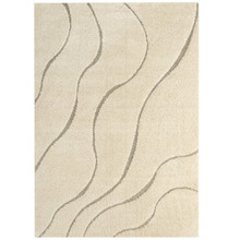 Abound Abstract Swirl 8x10 Shag Area Rug, Fabric, Multi Beige 15006