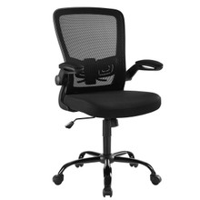 Exceed Mesh Office Chair, Wood, Black 15020