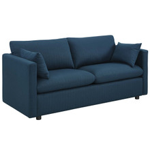Activate Upholstered Fabric Sofa, Fabric, Navy Blue 15021