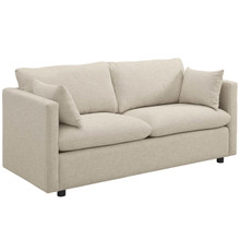 Activate Upholstered Fabric Sofa, Fabric, Beige 15022
