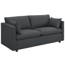 Activate Upholstered Fabric Sofa, Fabric, Grey Gray 15023