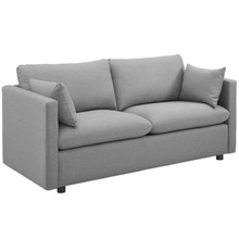Activate Upholstered Fabric Sofa, Fabric, Light Grey Gray 15024