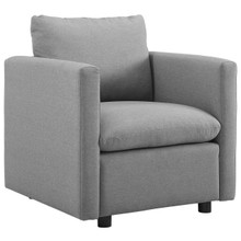 Activate Upholstered Fabric Armchair, Fabric, Light Grey Gray 15030