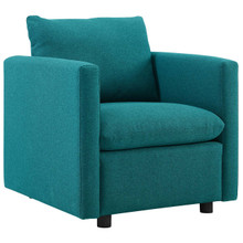 Activate Upholstered Fabric Armchair, Fabric, Aqua Blue 15031