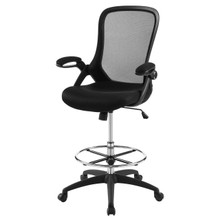 Assert Mesh Drafting Chair, Fabric, Black 15061