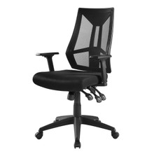 Extol Mesh Office Chair, Fabric, Black 15062
