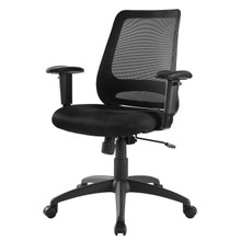 Forge Mesh Office Chair, Fabric, Black 15065