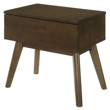 Everly Wood Nightstand, Wood, Brown 15106