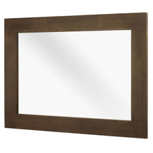 Everly Wood Frame Mirror, Wood, Brown 15108