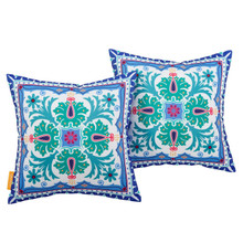 Modway Two Piece Outdoor Patio Pillow Set, Fabric, Multi Color 15118
