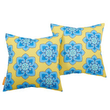 Modway Two Piece Outdoor Patio Pillow Set, Fabric, Multi Color 15119