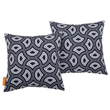 Modway Two Piece Outdoor Patio Pillow Set, Fabric, Multi Colorful 15121