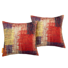 Modway Two Piece Outdoor Patio Pillow Set, Fabric, Multi Colorful 15123