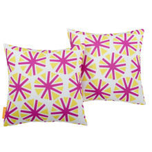 Modway Two Piece Outdoor Patio Pillow Set, Fabric, Multi Colorful 15124
