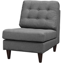 Empress Upholstered Fabric Lounge Chair, Fabric, Grey Gray 15271