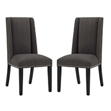 Baron Dining Chair Fabric Set of 2, Fabric, Brown 15273