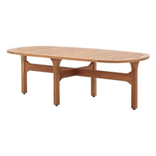 Saratoga Outdoor Patio Premium Grade A Teak Wood Oval Coffee Table, Wood, Natural 15286