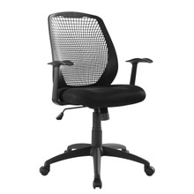 Intrepid Mesh Office Chair, Fabric, Black 15354