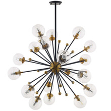 Constellation Clear Glass and Brass Ceiling Light Pendant Chandelier, Metal Steel, Gold 15365