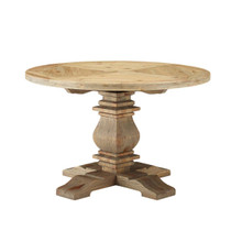 """Stitch 47"""" Round Pine Wood Dining Table, Wood, Brown 15457"""