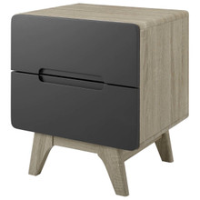 Origin Wood Nightstand or End Table, Wood, Grey Gray Natural 15568