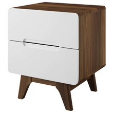 Origin Wood Nightstand or End Table, Wood, Natural Brown White 15569