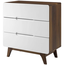 Origin Three-Drawer Chest or Stand, Wood, Natural Brown White 15571