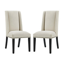 Baron Dining Chair Fabric Set of 2, Fabric, Beige 15667