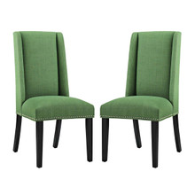Baron Dining Chair Fabric Set of 2, Fabric, Green 15669