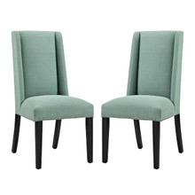 Baron Dining Chair Fabric Set of 2, Fabric, Blue 15671