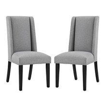 Baron Dining Chair Fabric Set of 2, Fabric, Light Grey Gray 15672